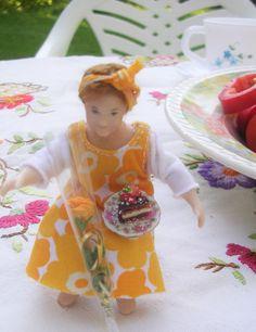 Doll by Taru Astikainen, styling by Anne, Malakoffit - Salme Salmen päivät Dolls, Chair, Tableware, Home Decor, Baby Dolls, Dinnerware, Decoration Home, Room Decor, Puppet