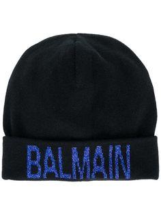 Balmain Glitter Logo Beanie - Farfetch 23340c6eba14