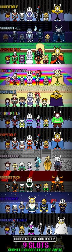 Undertale AU list 2 : Electric Boogaloo CLOSED by Toreodere on DeviantArt