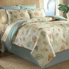 She Sells Sea Shells Comforter Set Ivory