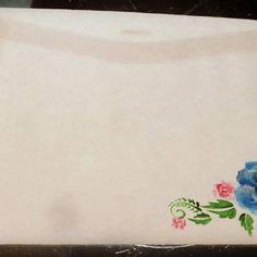 Sobre. Acuarela.   #misdibujos #carta #sobre #envelope #rosaazul #pinceladas #acuarela #aquarelle #acuarelart