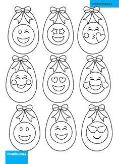 Σελίδα ζωγραφικής , πασχαλινά αβγά Emoji Emoji, Washer Necklace, Jewelry, Jewellery Making, Jewerly, Jewelery, The Emoji, Jewels, Jewlery