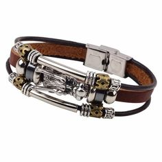 buy Handmade Leather Bracelet Big Dragon in store – TrendyTramp