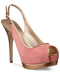 Spring Preview: Metallic accents GUESS #heels #pump BUY NOW!