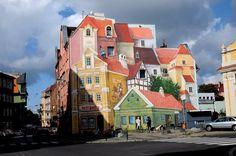 Рисунок на одном из домов в Польше.  #Польша