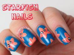 Cute Starfish Nails | Jamegackie