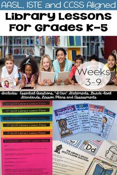 Library Lessons (Weeks After receiving such a positive response to my free Week 1 Library Lesson Plans, I am excited to offer this new bundle! I know that it is impossible to design lesson plans that will fit everyone's needs. School Library Lessons, Kindergarten Library, Library Lesson Plans, Elementary School Library, Library Skills, Elementary Schools, Library Ideas, Upper Elementary, Library Activities