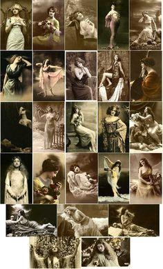 Free Images - A Lil Scrap of Heaven Vintage Ephemera, Vintage Paper, Vintage Postcards, Vintage Art, Vintage Pictures, Vintage Images, Domino Art, Foto Transfer, Vintage Girls