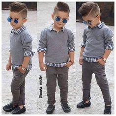 Niños desde pequeños imponiendo estilo.