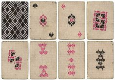 Handmade card deck from a Russian prison ~ photo from Sergey Chernyshev   #graphics
