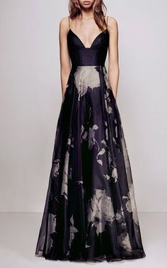 Adrolee Floral Organza Silk Reptile Bikini Gown by ALEX PERRY for Preorder on Moda Operandi