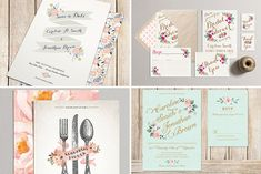 Printable wedding stationery from Pretty Little Papers | www.onefabday.com