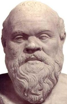 Cabeza de mármol de Sócrates. Copia de época imperial probablemente de estatua de bronce, obra de Lisipo, de la segunda mitad del siglo IV.