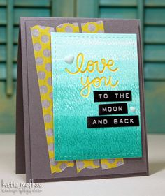 Hey everyone, it's time for another awesome challenge at Seize the Sketch . This week we have a sketch by Vicki: Check out . Distress Ink, Watercolour, Card Ideas, Stencils, Sketch, Love You, Moon, Crafty, Washi