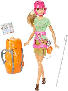 Check out the Barbie Camping Fun Hiker Doll at the official Barbie website. Explore the world of Barbie today! Barbie Doll Set, Doll Clothes Barbie, Barbie Doll House, Barbie I, Barbie And Ken, Barbie Dress, Ken Doll, Barbie Stuff, Barbie Fashionista