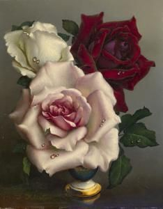 Irene Klestova - Red, Pink And White Roses