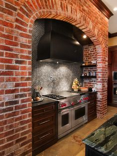 Faux Brick Backsplash Design, Pictures, Remodel, Decor and Ideas
