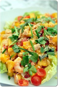salade thai ananas Pasta Salad, Risotto, Salads, Ethnic Recipes, Food, Barbecue, Buffet, Thai Cuisine, Chopped Salads