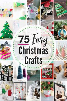 I have got tons of great DIY Christmas Craft Ideas perfect to make this holiday season. Make them yourself or have family over and have a craft making party Easy Christmas Crafts, Diy Christmas Ornaments, Simple Christmas, All Things Christmas, Christmas Decorations, Holiday Decor, Christmas Ideas, Crafts To Make, Home Crafts