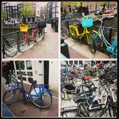 The famous bicycle of Hollande - Amsterdam