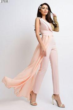 Tuta elegante monomanica rosa e oro - Le Aste di Sohà