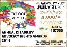 """""""APPRECIATING THE EFFORTS OF ADVOCACY FOR PERSONS WITH DISABILITY"""".  The Annual Disability  Advocacy Rights Awards is aimed to Honor organizations and people who have overcome seemingly-insurmountable challenges and recognize groups and organizations that demonstrate leadership and commitment to enhancing accessibility, inclusion, universality and the elimination of any barriers that may impede the full participation of persons with disabilities at workplaces and community.  #GalaDinner…"""
