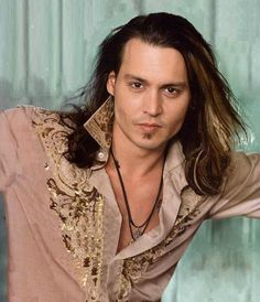Photo Shoot - Bob Frame, 2001, Johnny Depp, male actor, steaming hot, sexy guy, long hair, hairstyle, eye candy, portrait, photograph, photo