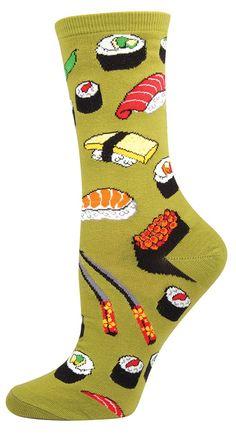 737314954fce9 We love green sushi socks by Socksmith for women.