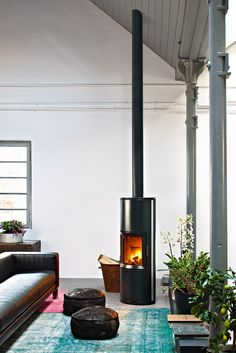 super efficient wood stove, or maybe its a pellet stove