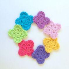 crochet motifs | poppyandbliss V Stitch Crochet, Crochet Art, Crochet Motif, Crochet Crafts, Crochet Flowers, Crochet Stitches, Crochet Projects, Modern Crochet, Slip Stitch