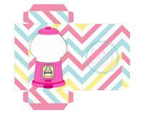 Molde caixinha candy machine para colocar confetes dentro, Dany Martines,