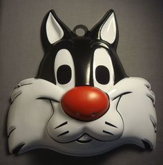 Looney tunes sylvester the cat halloween mask pvc child size 32674db0638a7