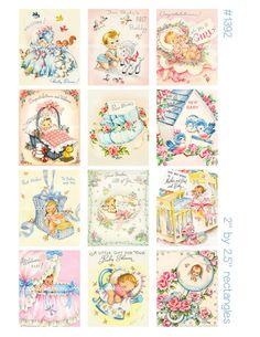 Baby Scrapbook, Scrapbook Cards, Scrapbooking, Vintage Greeting Cards, Vintage Ephemera, Credit Card Images, Credit Cards, Etiquette Vintage, Arts And Crafts Projects