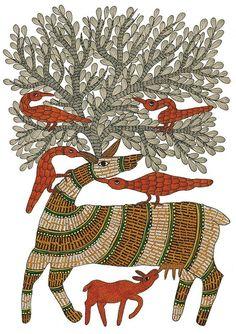 Rajendra Shyam. Signature - Patterns in Gond Art