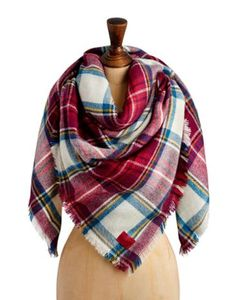 Joules Women's Scarf, Cream Check.                     Wrap yourself up and keep out the cold, indoors or out, with this ultra-soft, oversized check scarf. Wear this once and you won't know how you survived the winters without it!