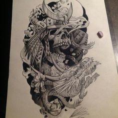 Sketch tattoo designs awesome 60 sketch tattoos for men artistic Sketch Tattoo Design, Tattoo Sketches, Tattoo Drawings, Skull Tattoos, Body Art Tattoos, Sleeve Tattoos, Japanese Tattoo Art, Japanese Tattoo Designs, Japanese Mask
