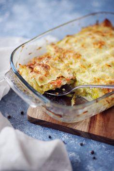 Les plaques de ravioles remplacent à merveille les plaques à lasagne. J'ai déjà mis sur le blog une recette de lasagnes de ravioles à la bolognaise. Je sui