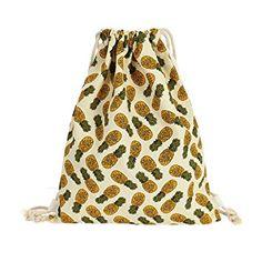 fd2984aa0a Pineapple String Backpack Painting Backpack, Tote Bag, Fruit Pattern,  Pineapple Fruit, Beach