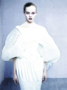 The Power of White | Nimue Smith by Paolo Roversi