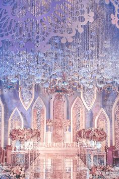 Best 12 Pink modern romantic wedding effect picture – SkillOfKing. Wedding Theme Design, Wedding Backdrop Design, Luxury Wedding Decor, Wedding Stage Decorations, Backdrop Decorations, Wedding Themes, Wedding Designs, Backdrops, Debut Ideas