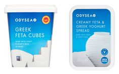Odysea launches Feta & Yoghurt Spread and Feta Cubes - FoodBev Media Greek Yoghurt, Yogurt, Food Packaging Design, Goat Milk, Cubes, Feta, Dairy, Product Launch, Products