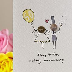I've just found Personalised 'Button Anniversary' Handmade Card. A delightful, hand illustrated 'Button Anniversary' card. Anniversary Card For Parents, 50th Anniversary Cards, Golden Wedding Anniversary, Homemade Anniversary Cards, Personalized Buttons, Wedding Cards Handmade, Button Cards, Birthday Cards, Birthday Doodle