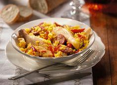 Recette du riz Gaxuxa Risotto Au Chorizo, Paella, Ethnic Recipes, Cooker Recipes, Chicken