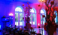 Austin Texas Event, Room Wash, Uplighting, Center Piece Lighting, Intelligent Lighting Design, ILD Lighting,