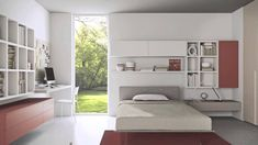 99+ Modern Bedrooms for Teens - Best Paint for Interior Check more at http://www.soarority.com/modern-bedrooms-for-teens/