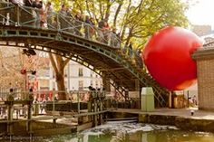 RedBall installed over the canal in Paris, France 2013