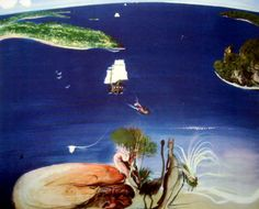 Brett Whiteley The Arrival, 1988 coloured photographic etching, framed edition 70 x 88 cm Australian Painting, Australian Artists, Paintings I Love, Painting Prints, Painting Art, 7 Avril, Visionary Art, Artist Gallery, Comic Artist
