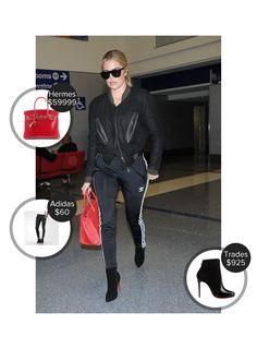 Khloe Kardashian LAX Airport - seen in Christian Louboutin, Adidas and carrying Hermes. #tradesy #hermes #adidas  #khloekardashian @mode.ai