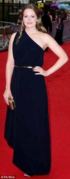 All dressed up: Former Downton star Cara Theobold, who played Ivy Stuart in Series 3-4, lo...