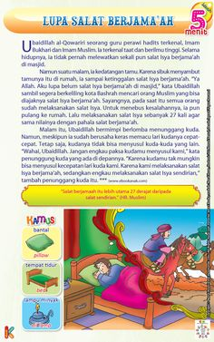 Lupa Shalat Berjama'ah Kids Story Books, Stories For Kids, Islamic Pictures, Islamic Quotes, Ramadan, Picture Quotes, Muslim, Qoutes, Parenting